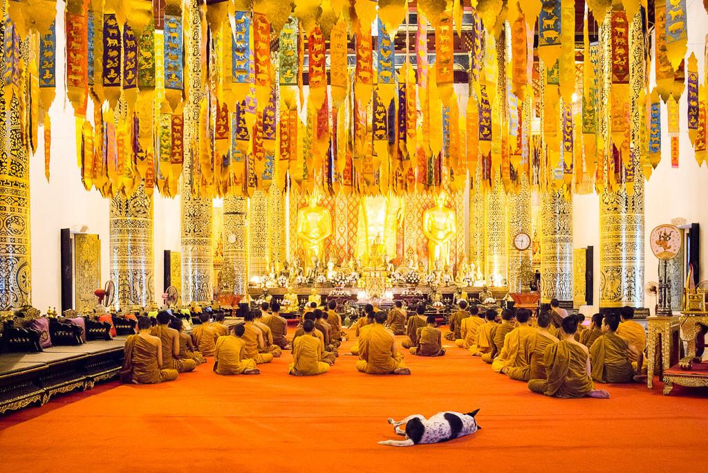 Chrám v Chiang Mai