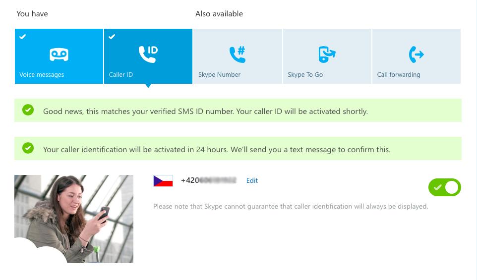 Nastavení Skype ID