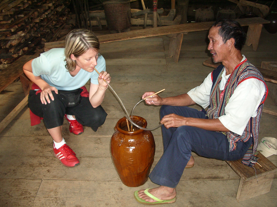 Rýžové víno – Dalat, Vietnam