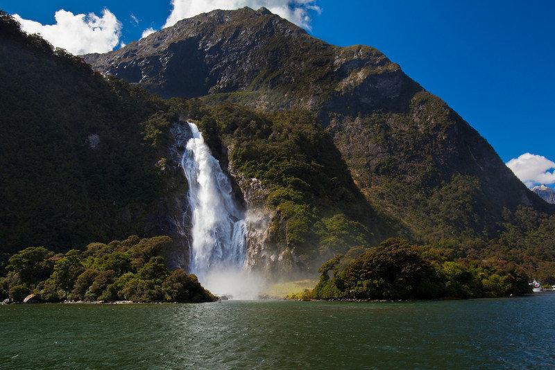 Milford-sound-waterfalls