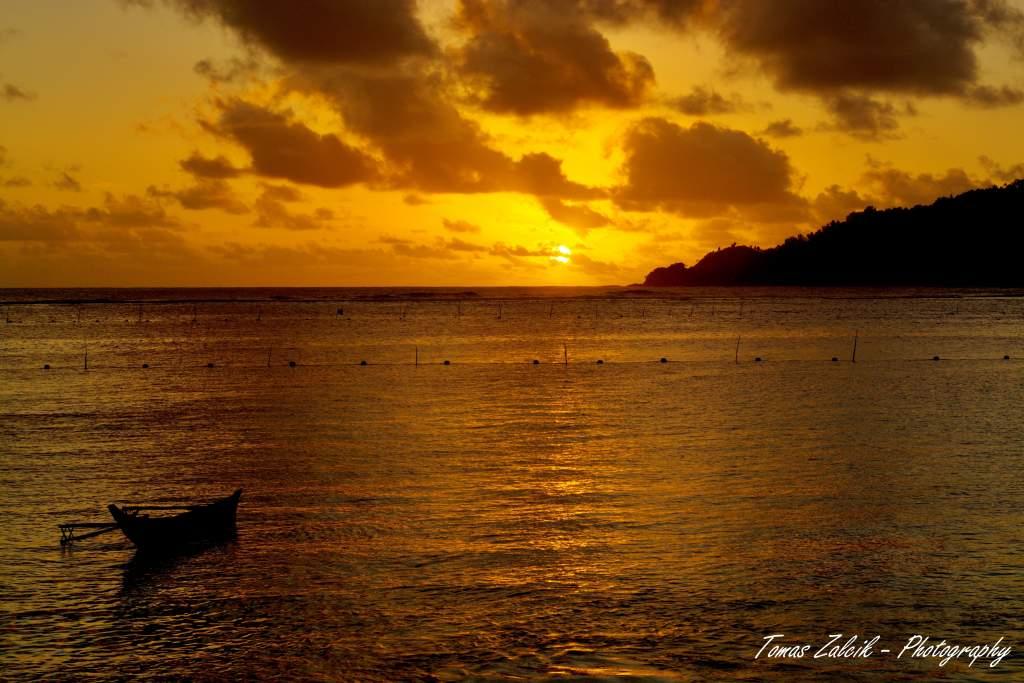 Západ slunce na Cape Moulinnu