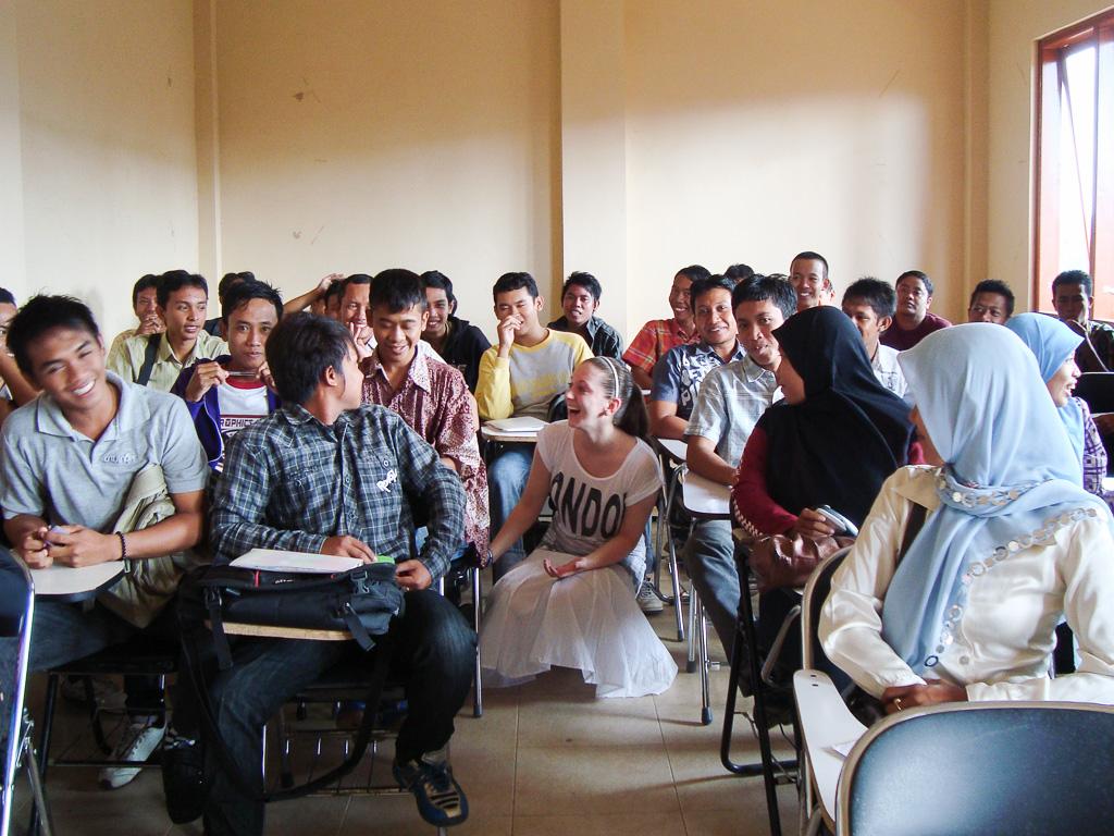 Indonésie –na místní univerzitě