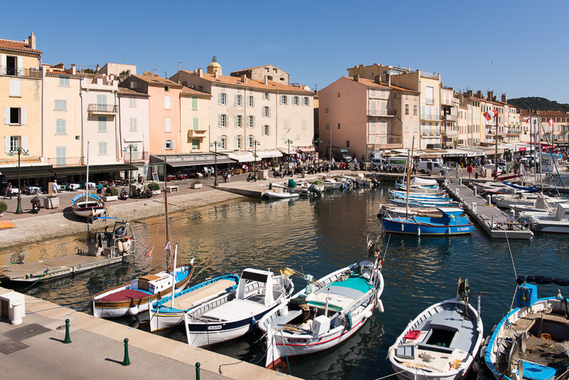 Proslulé Saint-Tropez na Azurovém pobřeží