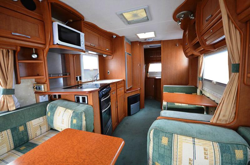 Interiér současného karavanu
