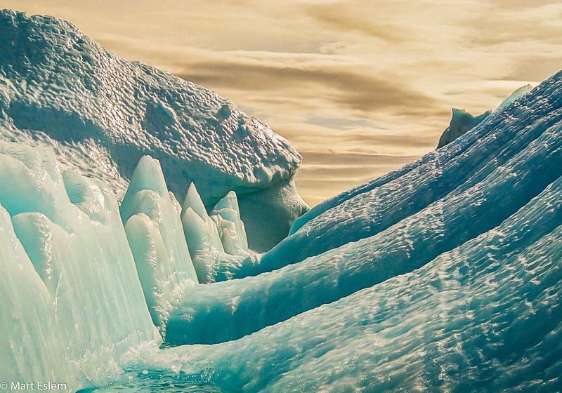 Úžasné bloky ledu v Antarktidě