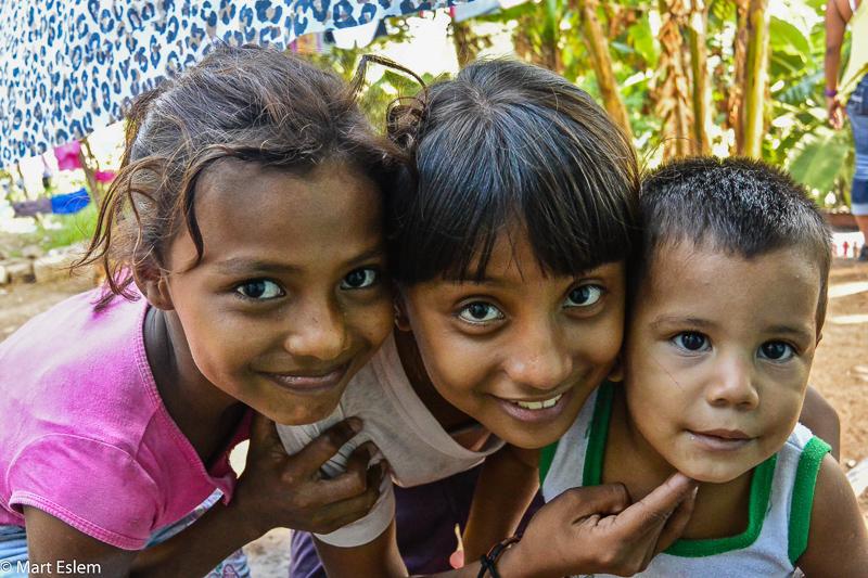 Děti ze slumu v Nicaragui