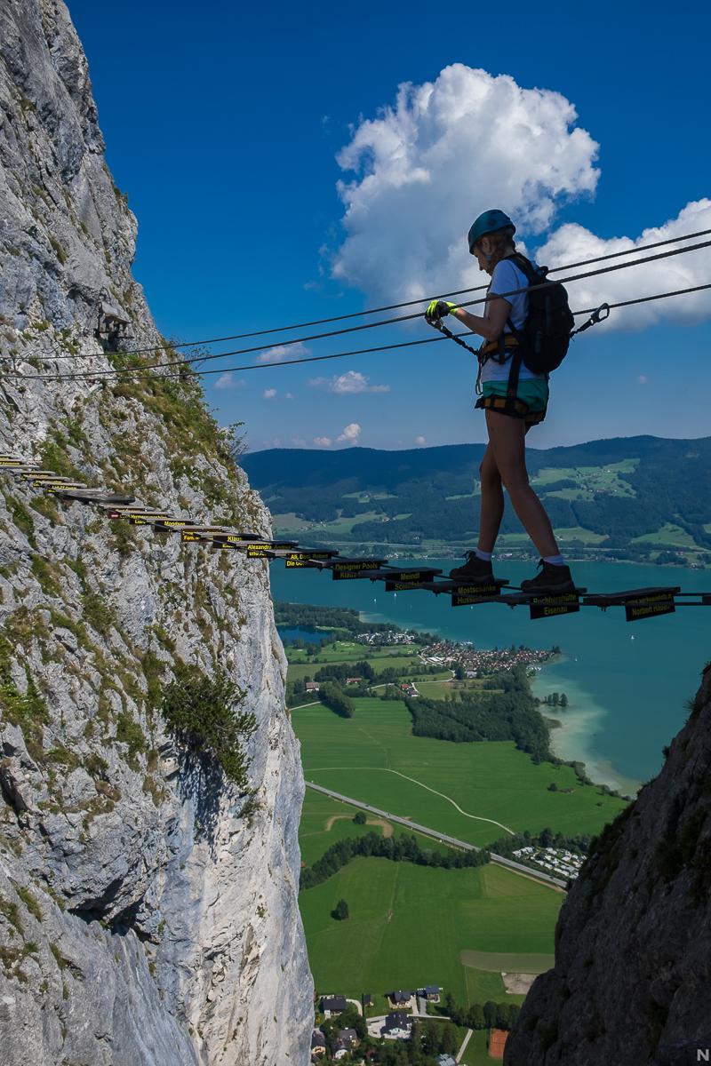 Legendární most nad Drachenwand
