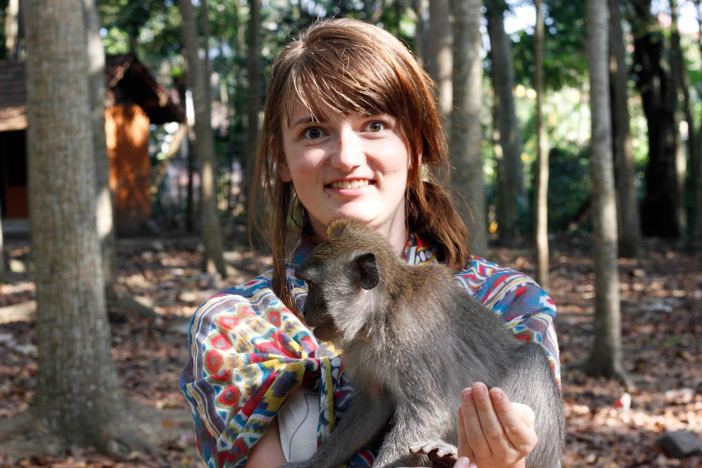 Opici jsem držela poprvé v životě