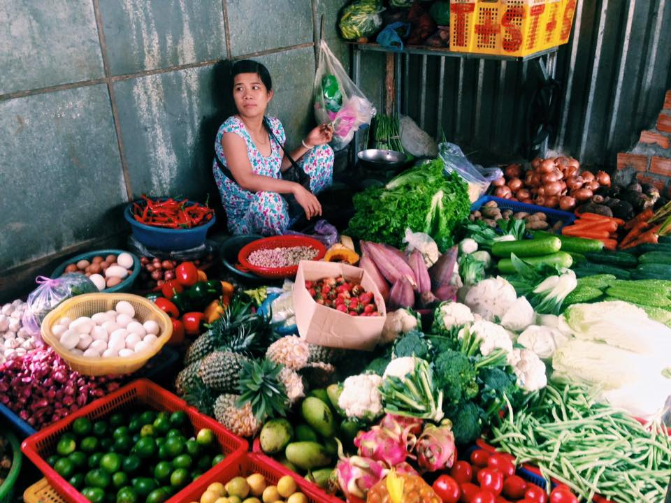 Vitenamská tržnice