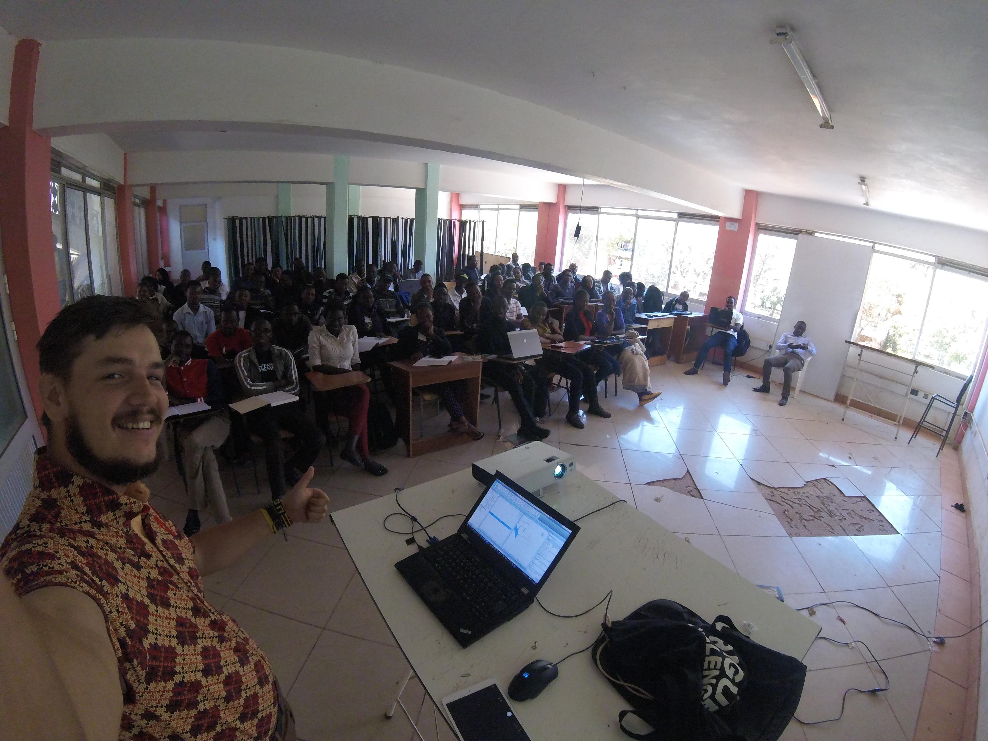 Keňa 2016: Oproti předpokladu nakonec přednášení a výuka na univerzitě (archiv autora)