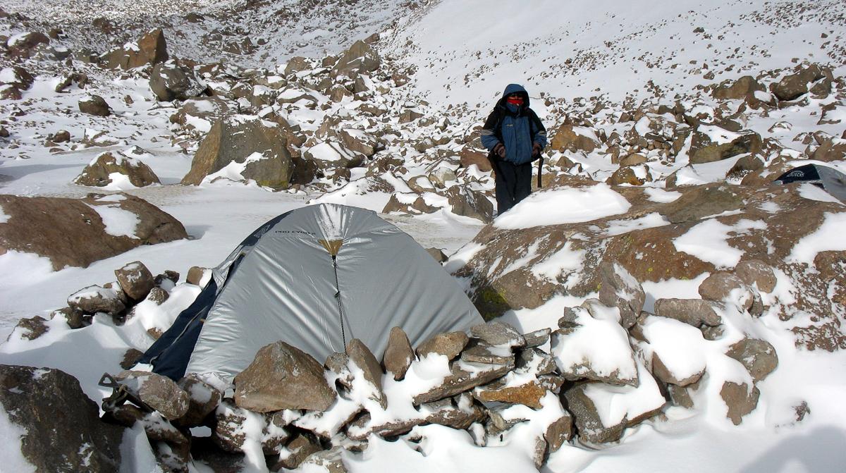 Nevado Chachani – obecně počítejte s tím, že se v horách může zkazit počasí a nemusíte se s horskou nemocí rychle dostat dolů
