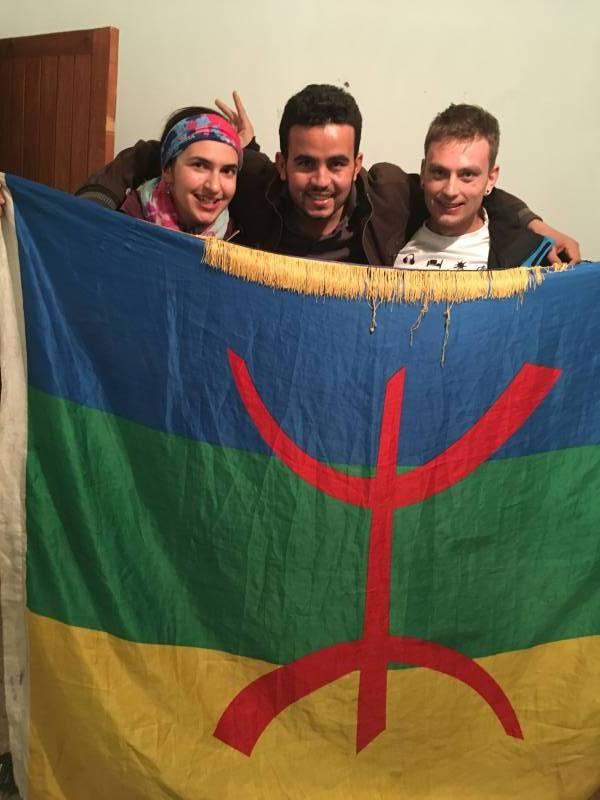 Další dva kamarádi – Berbeři z Maroka, které jsem poznala díky couchsurfingu