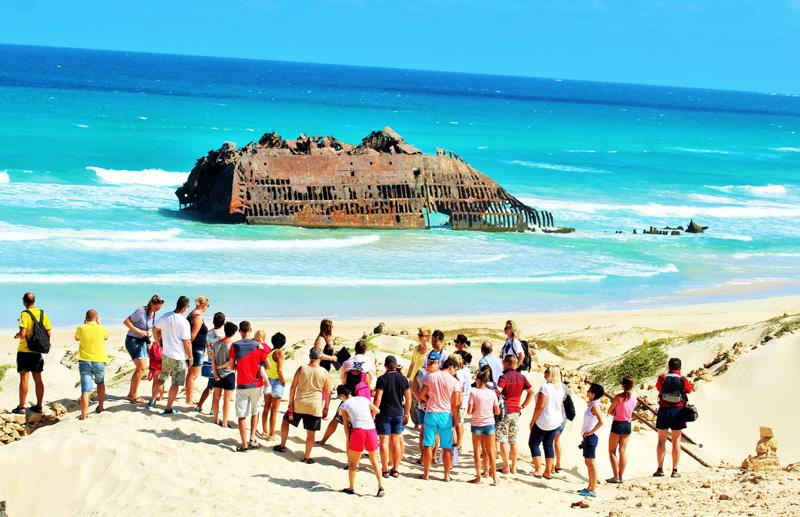 Vrak lodi Santa Maria je jedním ze symbolů ostrova Boa Vista