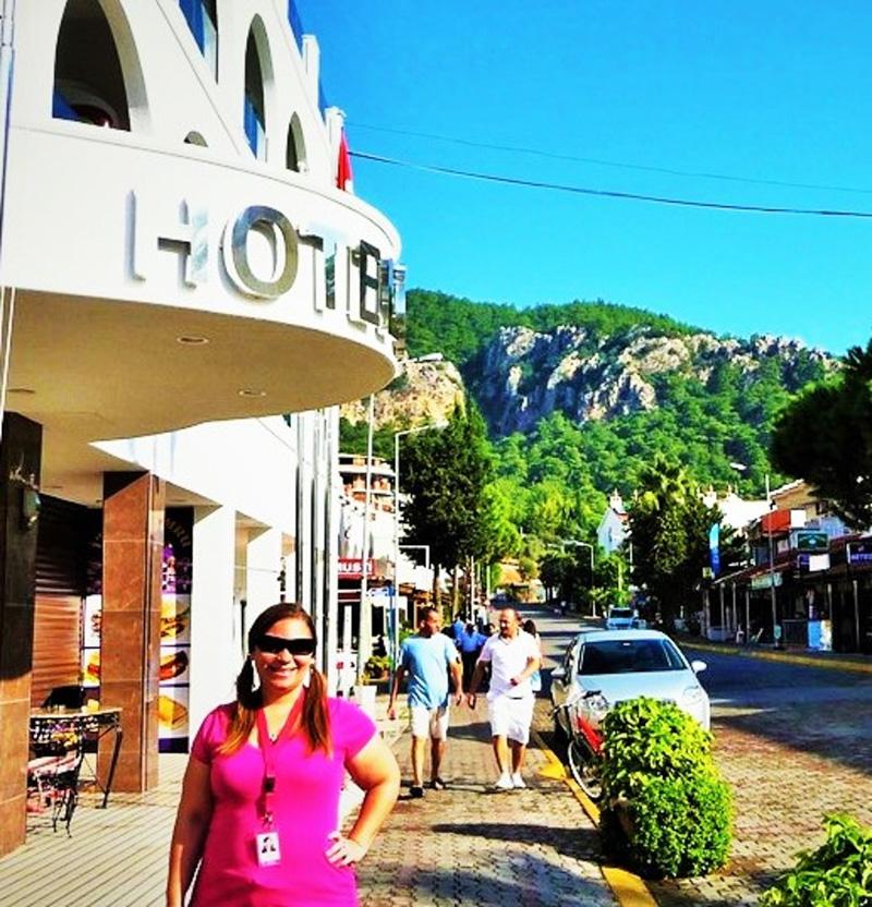 Jeden z hotelů v destinaci Marmaris v Turecku