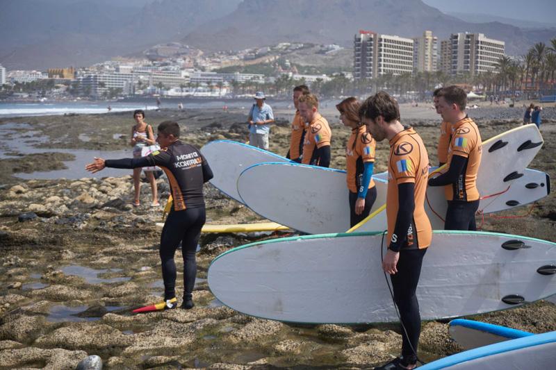 Poslední instrukce před surfingem v Playa de las Americas @Matúš Ficko