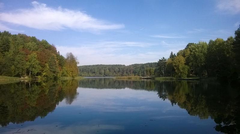 Jezero Gulbinas ve Verkiai Regional Park