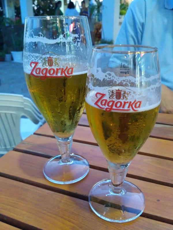bulharské pivo Zagorka