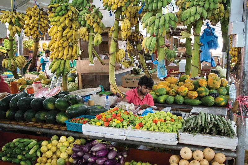 Zeleninový trh v Male