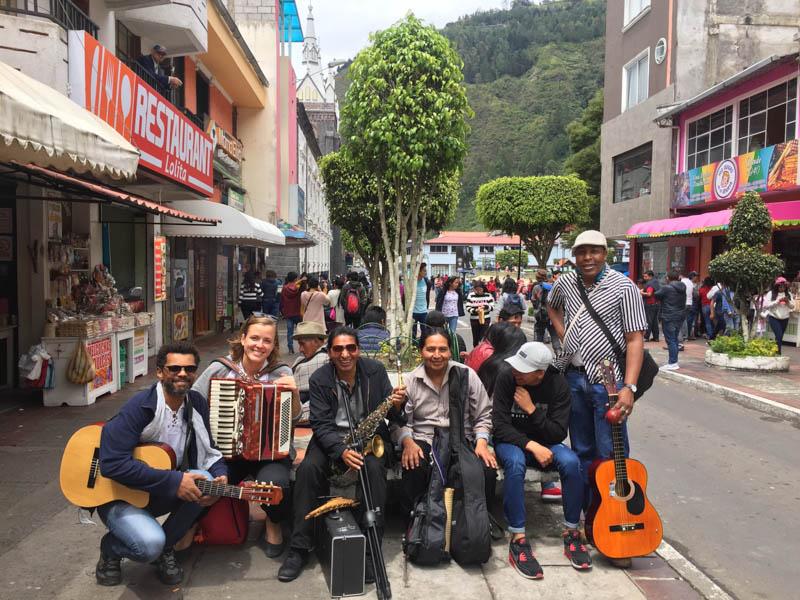 busking v Ekvádoru