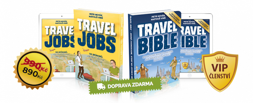 Travel Bible + Travel Jobs + VIP členství za zvýhodněnou cenu