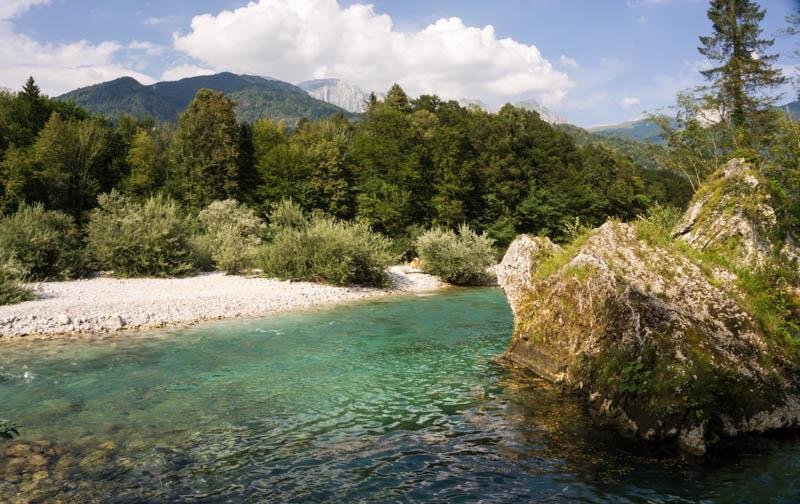 Jeden zúseků řeky Soči