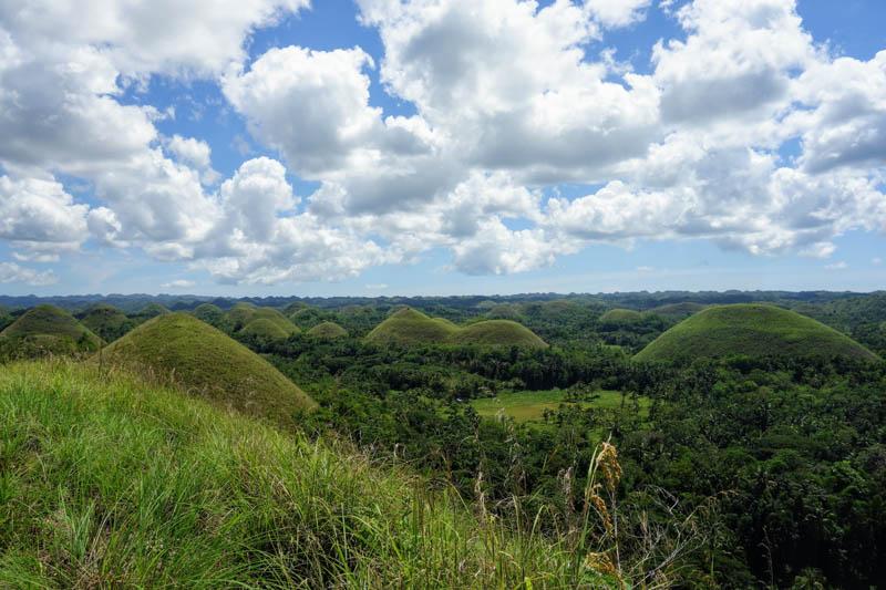 Čokoládové kopce vnitrozemí Boholu