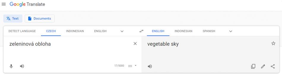 chyby ve strojovém překladu