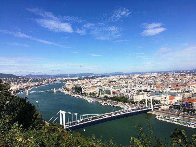 výhled z citadela budapešť