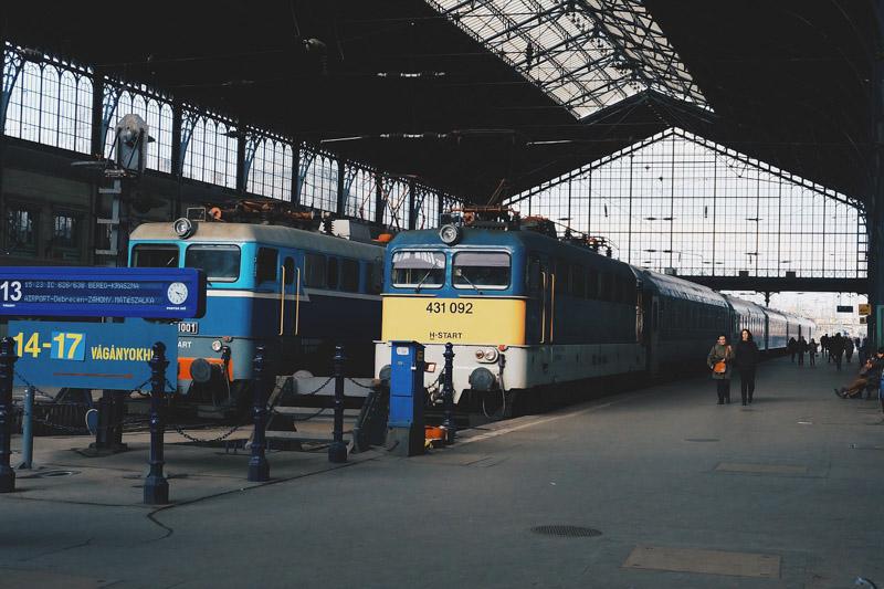 vlak budapešť