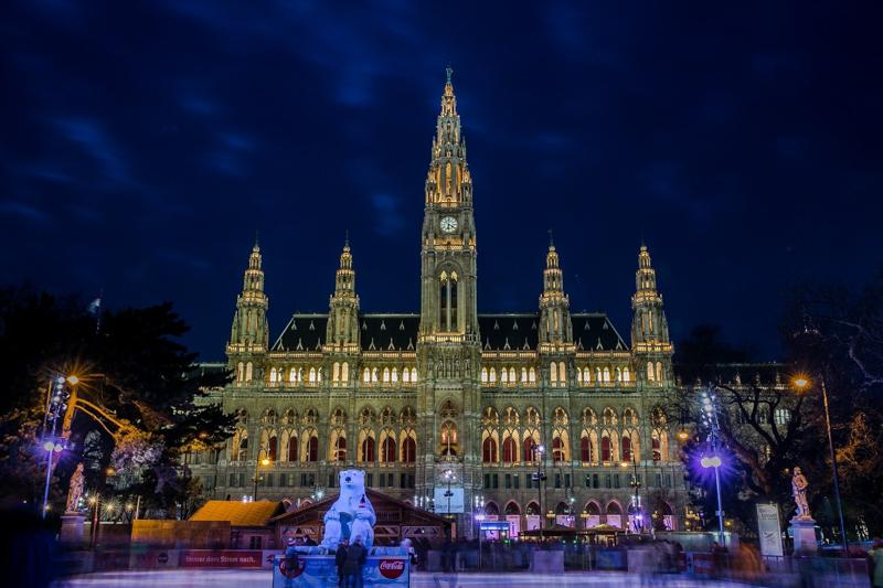 Rathaus o Vánocích
