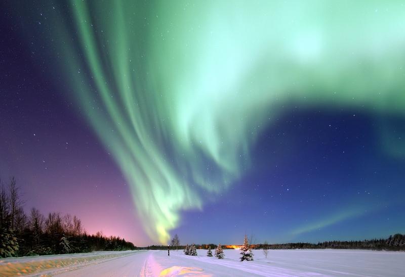 polární záře aljaška