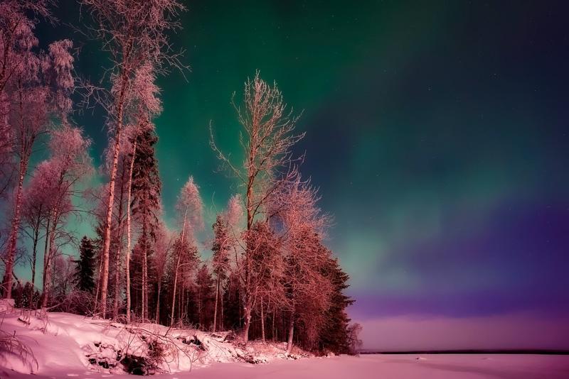 Finsko polární záře